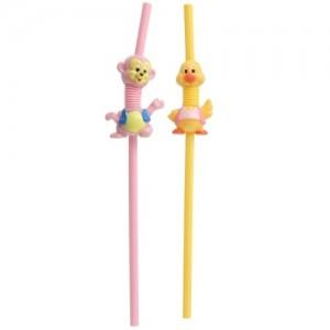 2支装儿童带装饰吸管